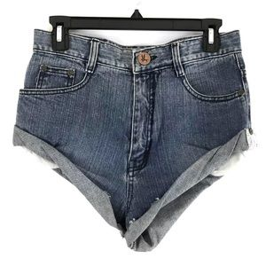 One Teaspoon Vintage Bandits Denim Shorts